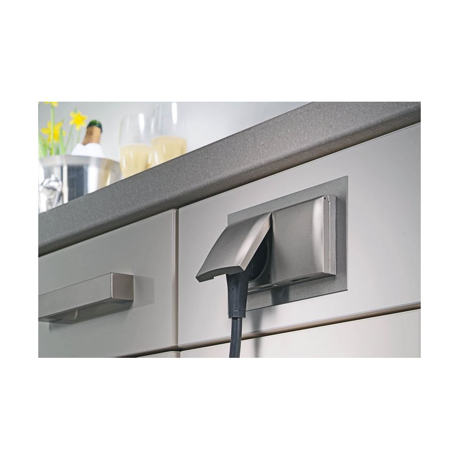 Inbouw Stopcontact Keuken : 2 voudig inbouw stopcontact vst 3009 17476 keuken accessoires