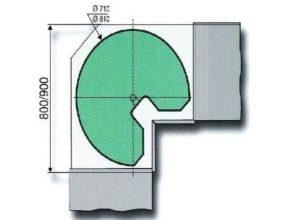 3/4 draaibodemset doorsnede 710 mm