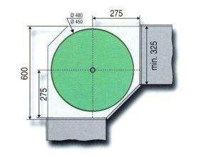 4/4 draaibodemset doorsnede 480 mm