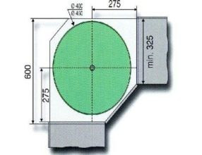 4/4 draaibodemset doorsnede 750 mm