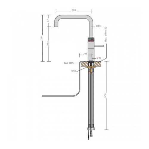 Quooker-Combi+-Fusion-Square-RVS-22+FSRVS-afmetingen