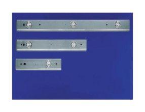 Doorkoppelbare halogeenbalk RVS Lengte 1150 MM 3 Halogeenspots 20 watt 22166