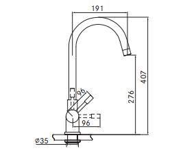 Franke 3-1 Helix kokendwaterkraan rvs 10 ltr combi M-box