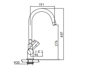 Franke 4-1 Helix kokendwaterkraan rvs 10 ltr combi M-box