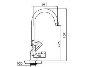 Franke 4-1 Helix kokendwaterkraan rvs 5 ltr combi M-box