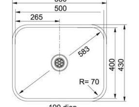 Franke Bellissimo BTX 210.50 Spoelbak Vlakinbouw 1270528348