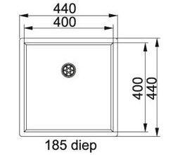 Franke  Bolero Plus  BPX 110.40 Spoelbak onderbouw 1220180152