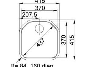 Franke  Delta DEX 210 Spoelbak Vlakinbouw 1270046295