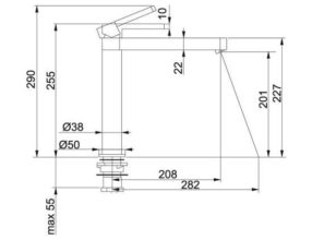 Franke Format design keukenkraan Chroom 1150177751