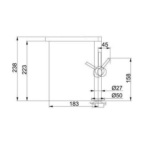 Franke Lounge design keukenkraan Chroom 1150177748