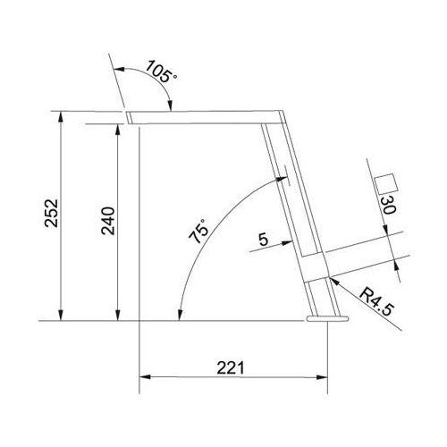 Franke Planario Tower design keukenkraan Chroom 1150177697