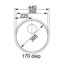 Franke Rondo ROX 210 Spoelbak vlakinbouw 1270050186