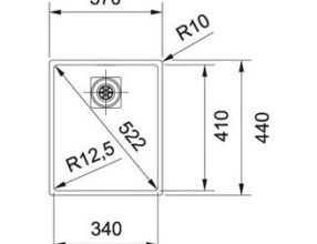 Franke Spoelbak Centinox CMX110-34 Onderbouw 1220276411