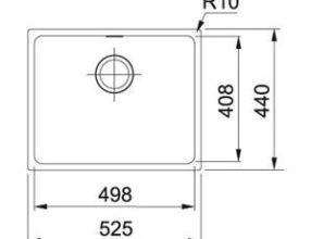 Franke Spoelbak Sirius SID 110-50 Tectonite Carbon Black Spoelbak Onderbouw 1250252223