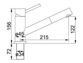Franke Taros keukenkraan Uittrekbare handdouche RVS 1150192836