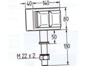 Kookeiland stopcontact 2 voudig met klep VSAT2 17006KLD