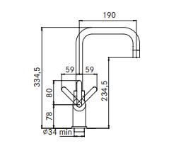 Kraan 3-1 Irena kokendwaterkraan chroom 10 ltr combi M-box