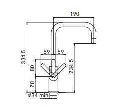 Kraan 3-1 Irena kokendwaterkraan chroom 5 ltr combi M-box