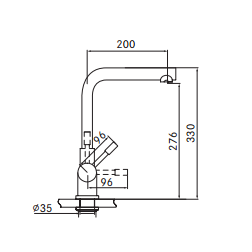 Kraan 4-1 Mondial kokendwaterkraan rvs 10 ltr combi M-box