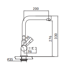 Kraan 4-1 Mondial kokendwaterkraan rvs 5 ltr combi M-box