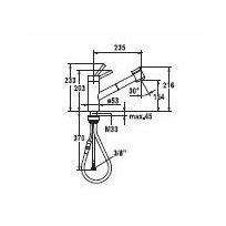 KWC keukenkraan Inox 10271033736 Rvs - Mat zwart