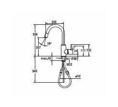 KWC keukenkraan Systema 10501042700 Rvs