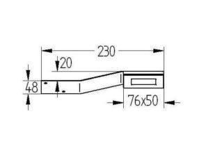 LED boogspot 2 watt vierkant model VLA296