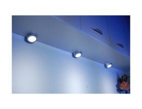 LED opbouw armatuur Rond RVS 4 Spots met trafo VLA10-4