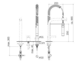 Profi-spoeldouche-garnituur Platina Mat 2778997006 OPRUIMING