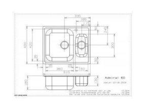 Reginox Admiral 60 spoelbak Vlakinbouw B4933LLU08GDS