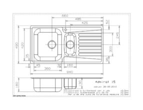 Reginox Centurio L15 spoelbak Vlakinbouw B49S4LLU08GDS.9