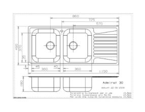 Reginox Centurio R30 spoelbak Opbouw B49S6RLU08GDS.9