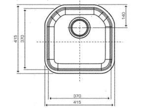 Reginox Denver spoelbak Vlakinbouw B09C1LLU06GDS