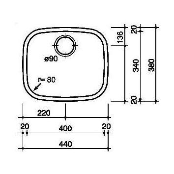 Reginox L183440 OKG Spoelbak Vlakinbouw B2811LLU06GDS