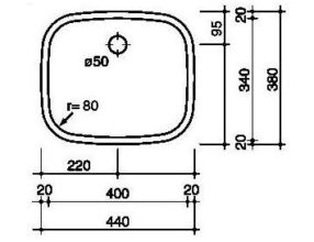 Reginox L183440 OSK spoelbak Vlakinbouw B2811LLU02GDS