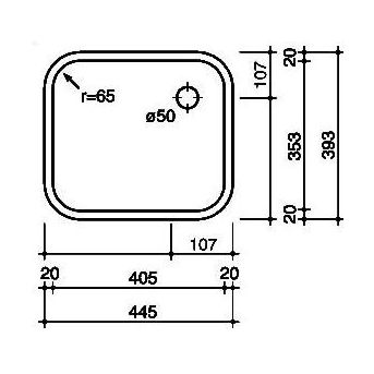 Reginox L184035 OSK spoelbak Vlakinbouw B2914LLU02GDS
