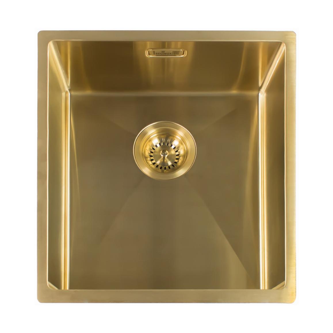 Reginox Miami 4040 OKG RVS spoelbak PVD Gold 40x40 L7682 R30714