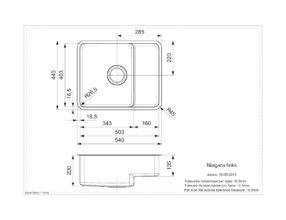 Reginox Niagara Lux grote bak links Vlakinbouw B19N3LLU06LDS