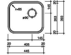 Reginox R184035 OKG Spoelbak Opbouw B2814RLU06GDS