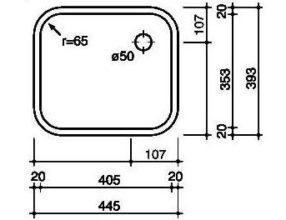 Reginox R184035 OSK spoelbak Opbouw B2814RLU02GDS