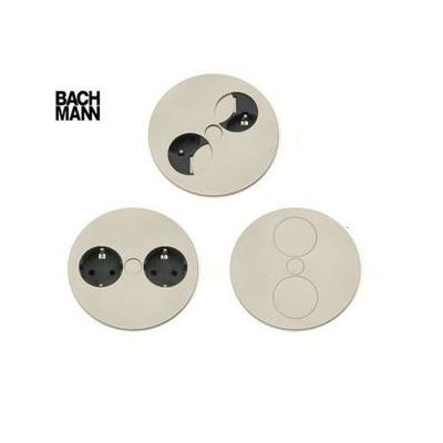 Twist dubbel stopcontact Bachmann RVS Belgische aarding