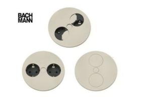 Twist dubbel stopcontact Bachmann RVS NL aarding