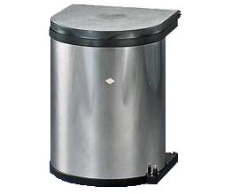 Wesco inbouw prullenbak rond 11 Liter RVS