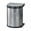 Wesco inbouw prullenbak rond 15 Liter Rvs