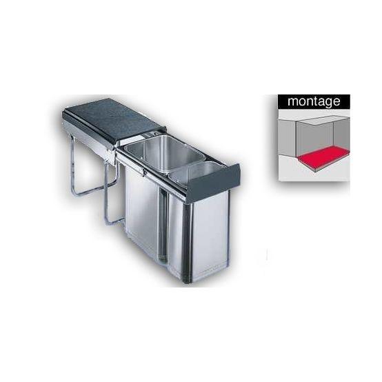 Wesco Inox-double 30 DT inbouw afvalemmer 039227