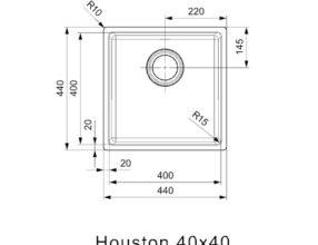 Reginox-Spoelbak-Houston-40x40-afmetingen