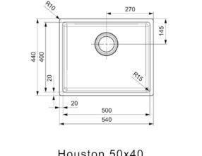 Reginox-Spoelbak-Houston-50x40-afmetingen