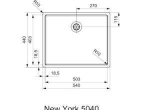 Reginox-Spoelbak-New-York-Comfort-50x40-afmetingen
